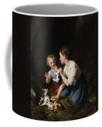 Children With Kitten Coffee Mug