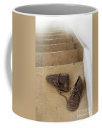 Child's Shoes By Stairs Coffee Mug