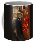 Chile Hang From The Door Of An Old Coffee Mug by Ralph Lee Hopkins