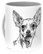 Chiwawa-portrait-drawing Coffee Mug