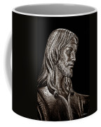 Christ In Bronze - Bw Coffee Mug
