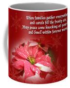 Christmas Card - Red And White Poinsettia Coffee Mug