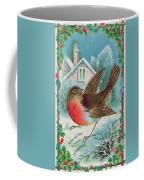 Christmas Card Depicting A Robin  Coffee Mug