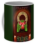 Christmas Card Wreath Color Coffee Mug