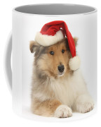 Christmas Collie Pup Coffee Mug