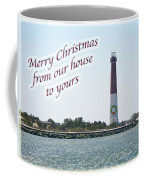 Christmas Lighthouse Card - From Our House To Yours Card Coffee Mug