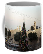 Christmas Tree In Manger Square Bethlehem Coffee Mug