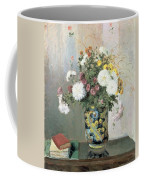 Chrysanthemums In A Chinese Vase Coffee Mug by Camille Pissarro