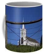 Church And Barbed Wire Coffee Mug