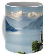 Church Close To An Alpine Lake Coffee Mug