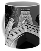 Church Facade In Black And White Coffee Mug