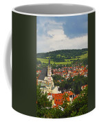 Church Spire In The Old Town Cesky Coffee Mug