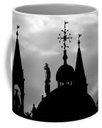 Church Spires Silhouetted Bw Coffee Mug