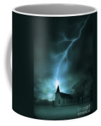 Church Struck By Lightning Coffee Mug