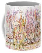 Church With Palm Trees Coffee Mug
