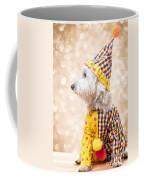 Circus Clown Dog Coffee Mug