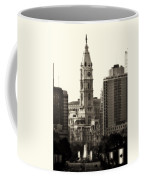 City Hall From The Parkway - Philadelphia Coffee Mug by Bill Cannon