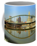 City Reflections Through A Bridge Coffee Mug