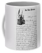 Civil War: Letter, 1862 Coffee Mug