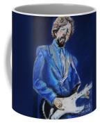 Clapton Jams Blue Coffee Mug by Emily Michaud