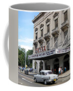 Classic Auto And Old Movie Theatre Coffee Mug