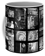 Classic Car Collage In Black And White Coffee Mug