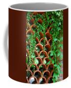 Clay Pattern Wall With Vines Coffee Mug