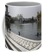 Clearing The Sarovar Inside The Golden Temple Resorvoir Coffee Mug