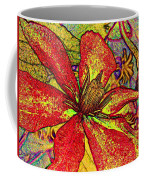 Clematis In Colored Pencil  Coffee Mug