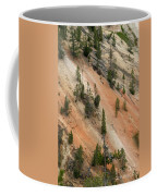 Cliff Side Grand Canyon Colors Vertical Coffee Mug