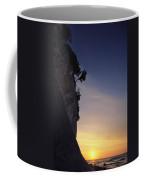 Cliff Silhouette At Sunset, Jasmund Coffee Mug