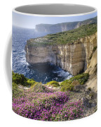 Cliffs Along Ocean With Wildflowers Coffee Mug