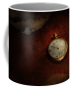 Clock - Time Waits For Nothing  Coffee Mug by Mike Savad