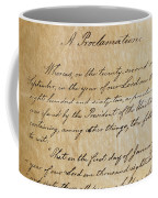 Close-up Of A Copy Of The Emancipation Coffee Mug