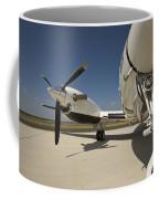 Close Up Of Turbo-prop Aircraft Coffee Mug