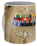Close-up View Of Military Decorations Coffee Mug