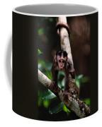 Close View Of A Baby Macaque Coffee Mug