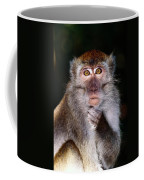 Close View Of A Long-tailed Macaque Coffee Mug