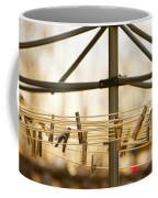 Clothespins On The Line Coffee Mug