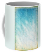 Cloud And Blue Sky On Old Grunge Paper Coffee Mug