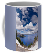 Clouds Above Crater Lake Coffee Mug