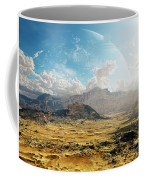 Clouds Break Over A Desert On Matsya Coffee Mug by Brian Christensen