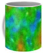 Cloudy Green And Blue Coffee Mug