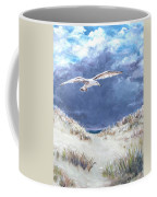 Cloudy With A Chance Of Seagulls Coffee Mug by Jack Skinner