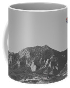 Co Rocky Mountain Front Range Hot Air Balloon View Bw Coffee Mug