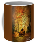 Coach On A Road In Autumn Coffee Mug