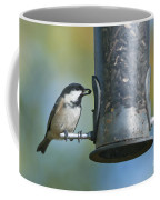 Coal Tit On Feeder Coffee Mug