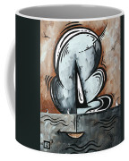 Coastal Art Contemporary Sailboat Painting Whimsical Design Afternoon Breeze By Madart Coffee Mug