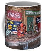 Coca Cola - Rexall - Ok Used Tires Signs And Other Antiques Coffee Mug