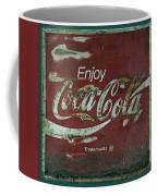 Coca Cola Green Red Grunge Sign Coffee Mug